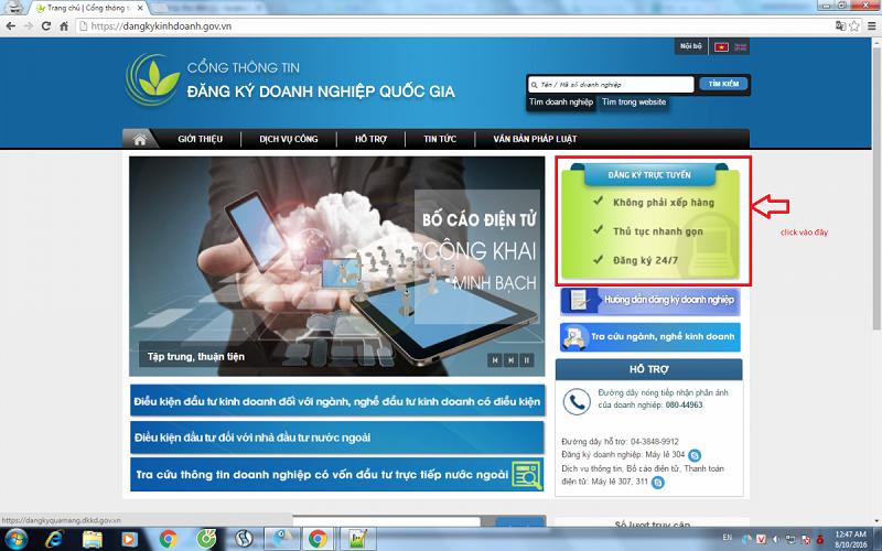 Hướng dẫn đăng ký doanh nghiệp qua mạng